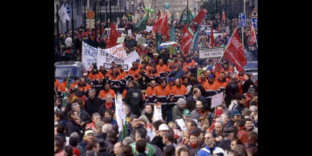 Piquets de grève à Namur, Charleroi et Bruxelles - La DH