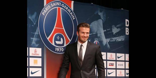 """Beckham: """"Mon salaire ira à une association caritative"""" - La DH"""