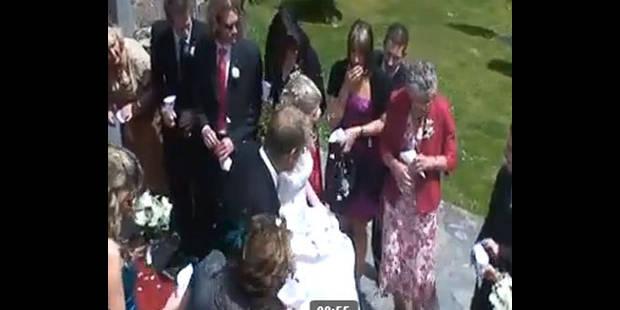 Une grand-mère jette son verre au visage de la mariée - La DH