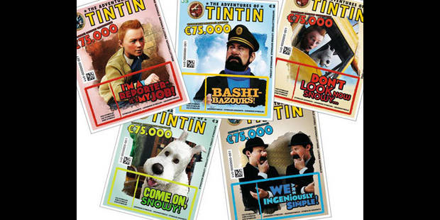 """La Loterie Nationale va proposer des billets consacrés aux """"Aventures de Tintin"""" - La DH"""