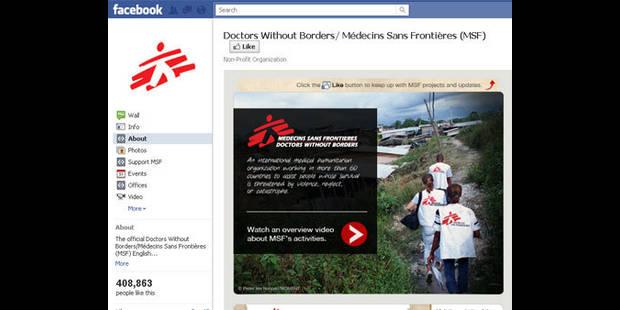 Plus de 24.000 personnes ont partagé leur profil Facebook ou Twitter avec MSF - La DH