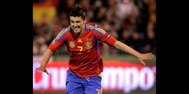 """Espagne: Villa meilleur buteur de l'histoire de la """"Roja"""" - La DH"""