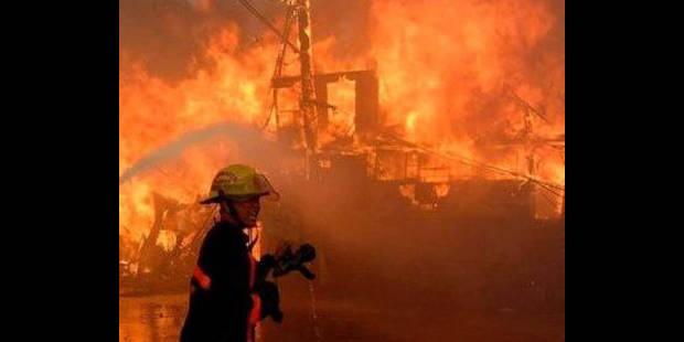 Incendie de brousailles près des voies de chemin de fer à Liège - La DH