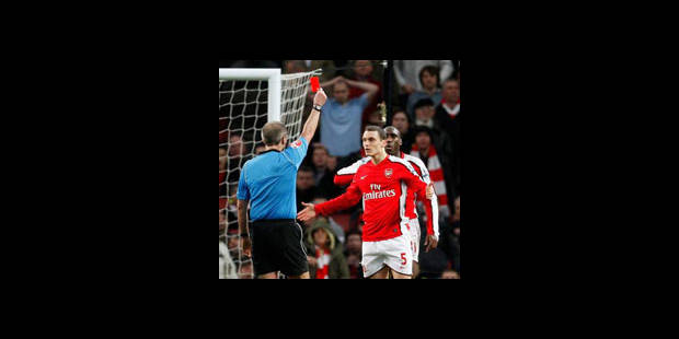 Arsenal en appel du carton rouge de Thomas Vermaelen - La DH