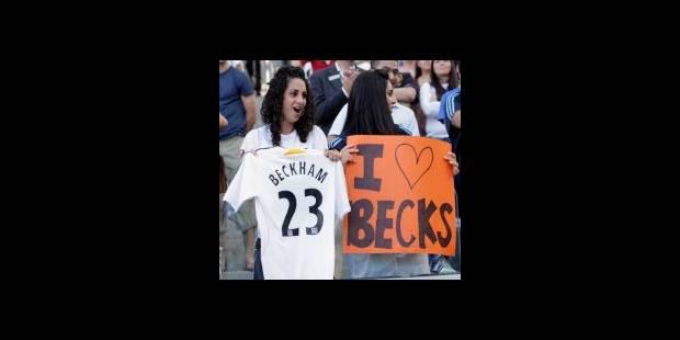 David Beckham joue la star avec les Los Angeles Galaxy - La DH