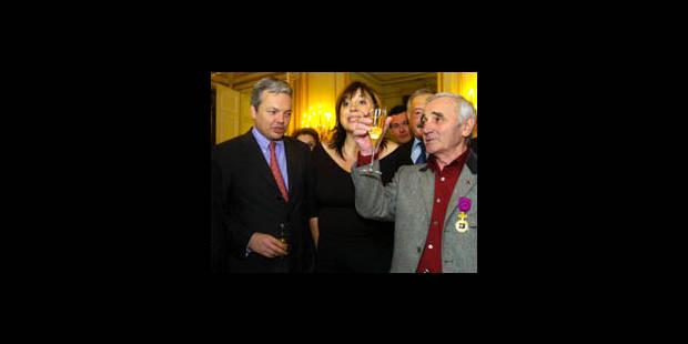 Aznavour, officier belge - La DH