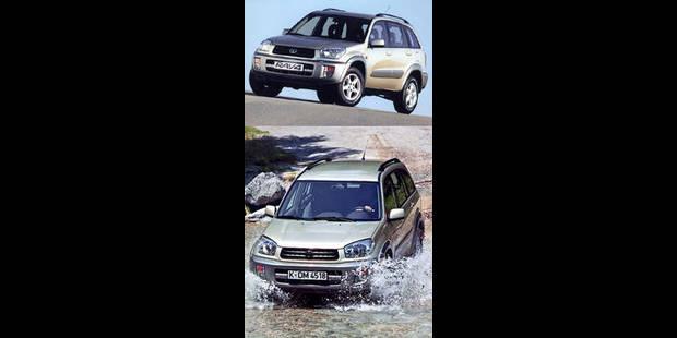 Les cotes de la DH - Toyota RAV-4 2.0 VX+A - La DH