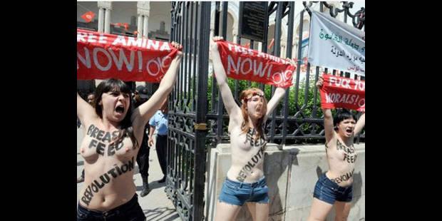Tunisie: les 3 Femen condamnées à 4 mois de prison - La DH