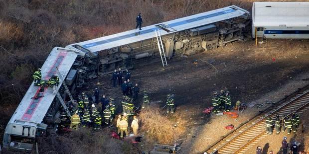 Déraillement d'un train à New York: la vitesse serait à l'origine du drame - La DH