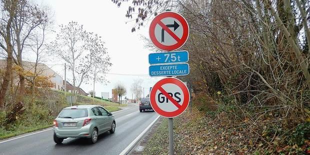 Un panneau anti-GPS: insolite mais bien utile - La DH