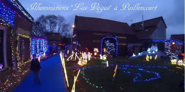"""Le """"Las Vegas"""" de Jessy et Virginie, concentré de kitsch de Noël dans un village du Nord - La DH"""