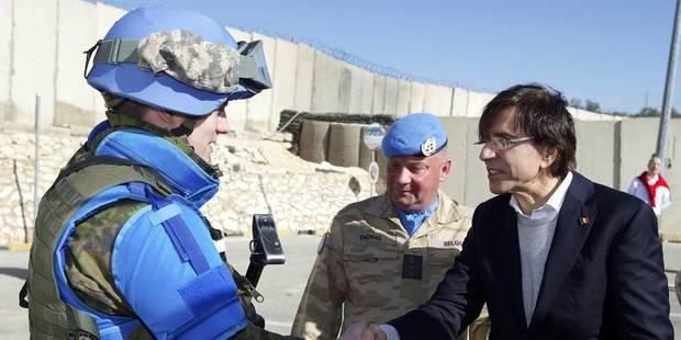 Di Rupo présente ses voeux aux militaires belges stationnés au Liban - La DH
