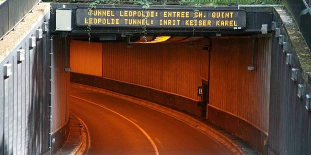 Bruxelles: le tunnel Léopold II rouvert à la circulation - La DH