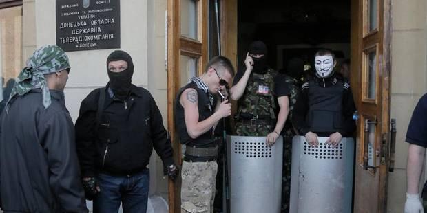 Ukraine: des militants séparatistes s'emparent d'une TV régionale - La DH