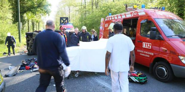 Quatre blessés lors d'une spectaculaire collision à Montigny-le-Tilleul - La DH