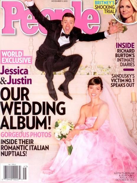 Une vraie robe de princesse pour Jessica Biel, l'épouse de Justin Timberlake. Une création Giambattista Vali.