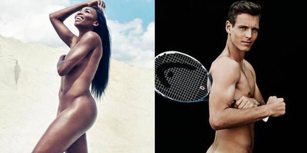 Venus Williams et Tomas Berdych posent à poil - La DH