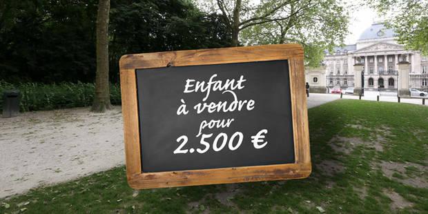 Un enfant à vendre pour 2.500 € dans le parc Royal ! - La DH