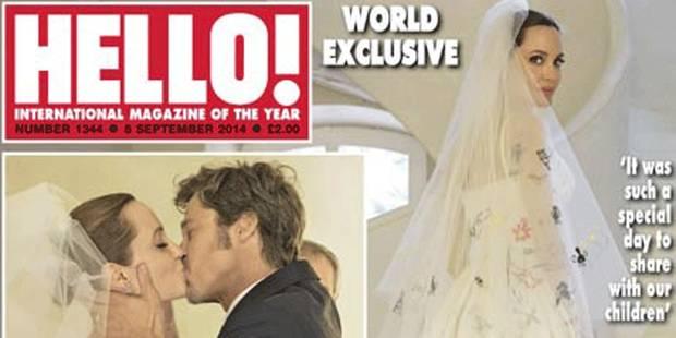 La robe de mariée un peu spéciale d'Angelina Jolie: les photos du mariage dévoilées - La DH