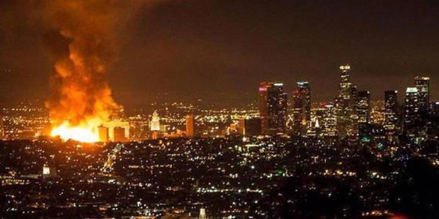 Un incendie spectaculaire sème le chaos à Los Angeles (Photos + vidéo) - La DH