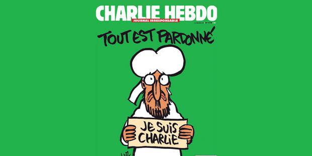 """La Une du prochain Charlie Hebdo: Mahomet tient une pancarte """"Je suis Charlie"""" - La DH"""