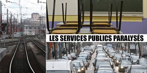 Grève: action largement suivie, les transports publics presque à l'arrêt (SYNTHESE) - La DH