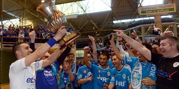 Halle-Gooik vainqueur de la Coupe de Belgique de futsal - La DH