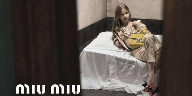 """Censurée, la campagne de Miu Miu est jugée """"irresponsable et offensante"""" - La DH"""