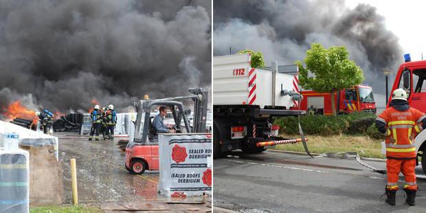 Incendie chez Derbigum à Perwez: le plan communal d'urgence est levé (PHOTOS + VIDEOS) - La DH