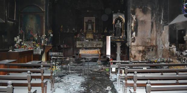 Manhay: un incendie ravage l'intérieur de l'église Saint-Antoine - La DH