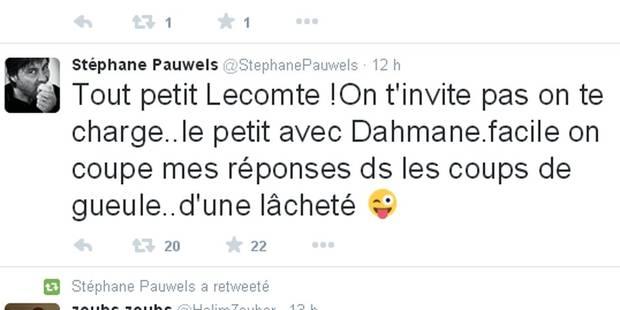 """Stéphane Pauwels a vu rouge en regardant les 10 ans de La Tribune: """"Tout petit Lecomte!"""" - La DH"""