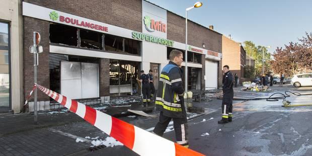 Le magasin totalement détruit dans le quartier Saint-Léonard, à Liège. - La DH