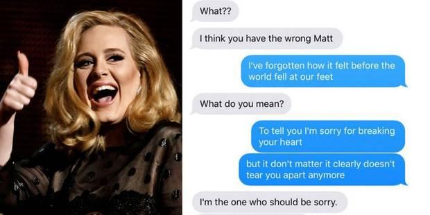 Quand une jeune fille envoie les paroles de la chanson d'Adele à son ex-petit ami - La DH