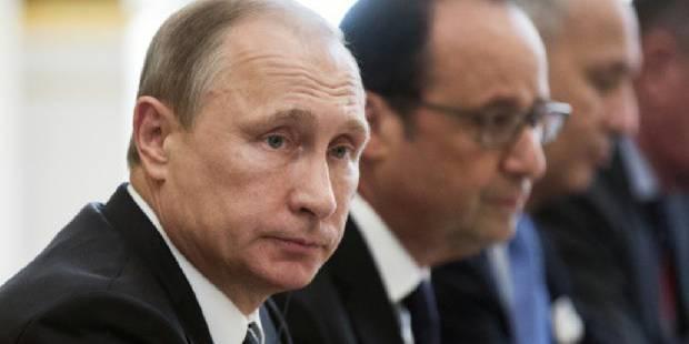 """Poutine ordonne à ses navires en Méditerranée de """"coopérer avec les alliés"""" français - La DH"""