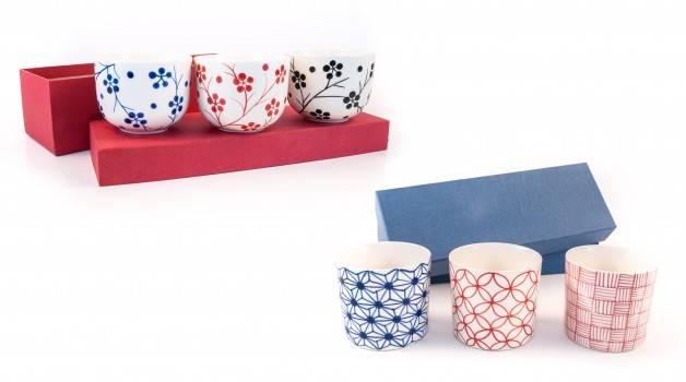 Coffret de 3 tasses, Mai Handicraft, Vietnam 25€. Chez Oxfam Magasins du Monde
