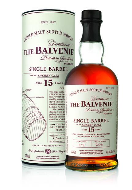 UN SPIRITUEUX. Et pas n'importe lequel avec le whisky The Balvenie Single Barrel Sherry Cask,  95€.
