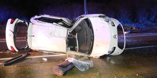 Dampremy: une conductrice blessée après une embardée spectaculaire (PHOTOS) - La DH