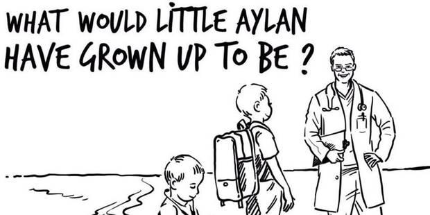 La caricature du petit Aylan dans Charlie Hebdo choque, de son père à la reine de Jordanie - La DH