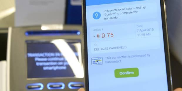 Le Belge paye de plus en plus avec son téléphone - La DH