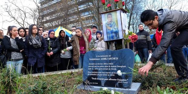 La stèle commémorative de l'ado fauché par un métro à la station Osseghem dégradée - La DH