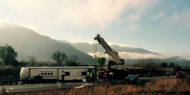 Espagne: un accident de bus fait 14 morts, un Belge légèrement blessé (VIDEO) - La DH