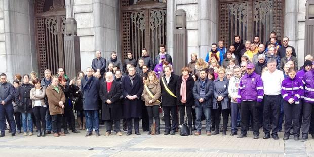 Charleroi: une pensée aux victimes des attentats (PHOTOS) - La DH