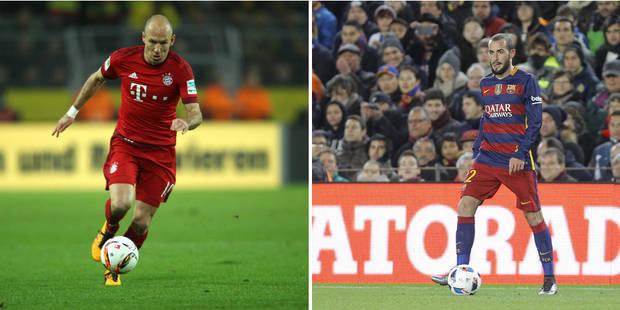 C1: le Bayern devra faire sans Robben, le Barça privé de Vidal - La DH