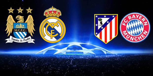 Manchester City-Real et Atlético-Bayern en C1, Donetsk-FC Séville et Villarreal-Liverpool en C2 - La DH