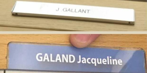 """Jacqueline Galant devient """"Gallant"""" à la Fédération et """"Galand"""" au Parlement wallon - La DH"""