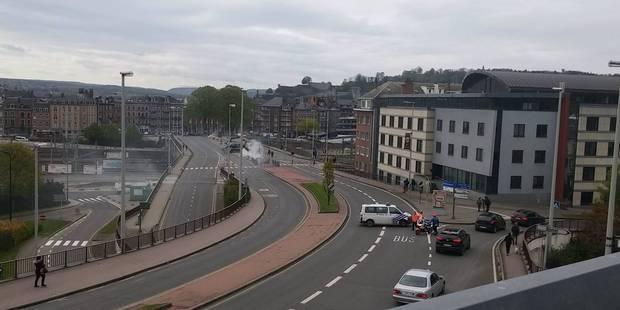 Namur: incendie sous le pont de Louvain - La DH