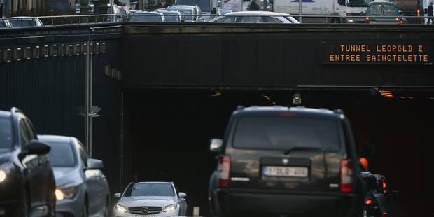 Pourquoi le tunnel Léopold II a été fermé à la circulation ce mercredi matin? - La DH