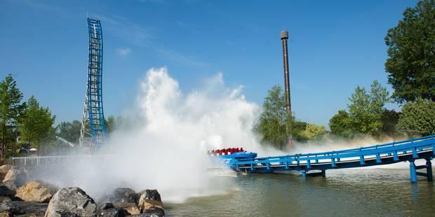 """Walibi inaugure le Pulsar, un impressionnant """"splash"""" à 100 km/h (VIDEO) - La DH"""