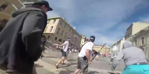 Un hooligan russe filme les affrontements entre supporters à Marseille - La DH