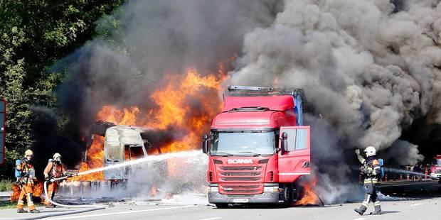 Près de 3 camions en feu chaque mois en Belgique - La DH